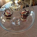 recette Verrine de yaourt aux biscuits roses