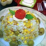 recette salade de riz au champignons et au thon