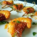 recette Brocttes de crevettes au chorizos