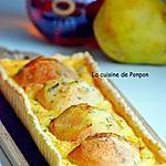recette Tarte aux poires parsemée d'estragon