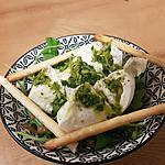 recette Burratinas à la gremolata, roquette et pignons