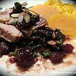 recette Filet de porc à la moutarde, sauce au vin et aux dattes +