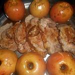recette Roti de porc aux pommes et au cidre