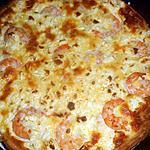 recette Quiche  crabe,crevettes, épinard et féta