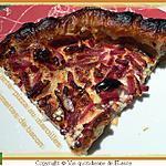 recette Tarte - Pizza au maroilles, allumettes de bacon
