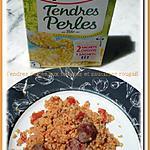 recette Tendres perles aux tomates et saucisses rougail