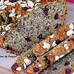 recette Banane bread healty aux graines de chia, noix de coco et pépites de chocolat