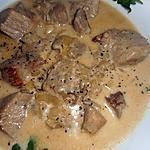 recette Sauté de porc au maroilles et à la bière