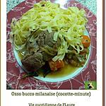recette Osso bucco milanaise (cocotte-minute)
