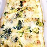 recette Gratin poulet,brocolis,champignons