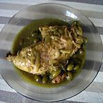 recette tajine de poulet aux olives vertes
