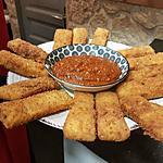 recette Frites de polenta, coulis de tomates au basilic