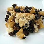 recette Pommes caramélisées au rhum en crumble à la noix de coco