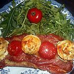 recette tartine au jambon de bayonne et buche de chevre