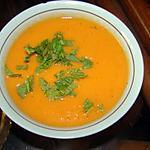 recette Bisque de carottes au gingembre et à la menthe