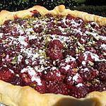 recette Tarte aux framboises et pistache