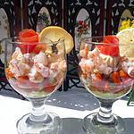 recette verrines aux grosses crevettes