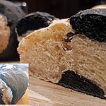 recette Pain marbré au charbon cuisson cocotte