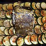 recette Cabillaud roti avec son tian de courgettes