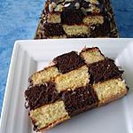 recette Bolo Xadrez (Gâteau aux petits carrés noir blanc )