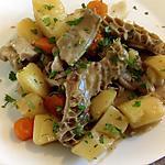 recette panse de boeuf en sauce et ses légumes