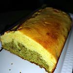 recette cake au citron et thé vert matcha