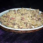 recette Oeufs brouillés lardons/champignons
