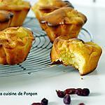 recette Muffin aux pommes, cranberries et lait concentré sucré