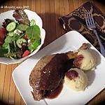 recette Cuisses de canard confites, sauce aux dattes et au vin