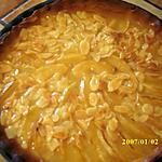 recette Tarte aux pommes miel et amandes