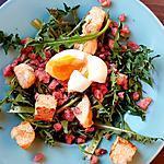 recette Salade de dents de lion, vinaigrette au sirop d'érable