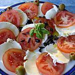 recette salade estivale tomates mozzarelle olives