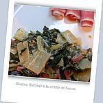 recette Blettes (bettes) à la crème et bacon