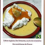 recette Iles flottantes, coulis de mirabelles (Cooking chef et Micro-ondes)