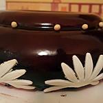 recette Entremet framboise chocolat blanc et glaçage miroir.