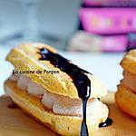recette Éclair garni de mousse de foie gras au poivre de Sichouan