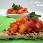 recette Salsa express tomates et pêches