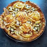 recette Tarte ....à l'écrasée de pommes & cannelle au doux miel de Lavande