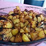 recette Poulet et pommes de terres rôtis