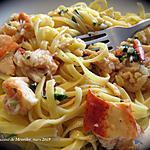 recette Fettuccine au homard