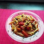 """recette Pennette rigate et ces légumes du soleil   au """"  Cookeo  """""""