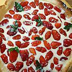 recette Tarte crémeuse aux fraises