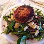 recette Salade de dent-de-lion et tomme panée