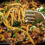 recette Spaghetti express à la grecque +