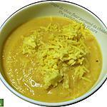 recette Soupe de chou-fleur parsemée de cheddar