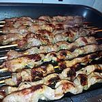 recette Brochettes d'échine de porc sauce soja