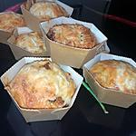 recette Minis cakes au fromage lardons & tomates séchées