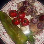 recette Cotes d agneau au chorizo,poivron,tomates