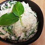 recette Risotto chèvre frais et pousses d'épinards