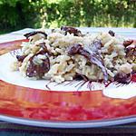 recette Risotto aux girolles et raisins blonds